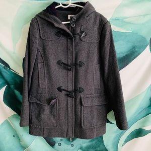 Cute dark gray toggle coat from St John's Bay